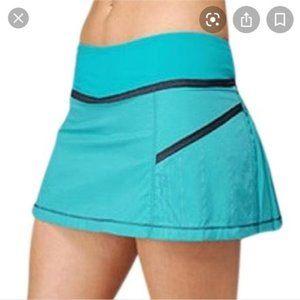 LULULEMON Run Reflection Skirt skort teal blue 6